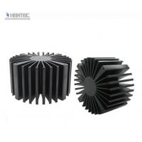 China T4 T5 T6 Temper Heat Sink Aluminium Extrusion Profiles with Black Anodized wholesale
