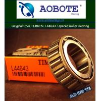 China Timken L44643 Thrust Roller Bearing V3 , L44610 Gcr15 Miniature Ball Bearing wholesale