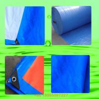 Buy cheap Blue orange PE tarpaulin fabric supplier waterproof tarp outlet breathable tarps/8 x 12 tarp for truck cover from wholesalers