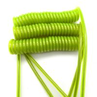 Buy cheap Steel Wire Safety Tool Lanyards Transparent Green PU Coating from wholesalers