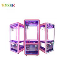 Quality Fully Transparent Metal Glass Crane Coin Operated Amusement Gift Vending Game Claw Crane Machine for sale