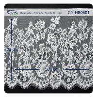China Nylon Eyelet Lace Trim , Floral Scallop Bridal Lace For Evening Dress wholesale