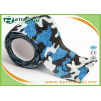 Quality Blue Colour Camouflage Printing Non Woven Cohesive bandage Pre Wrap for Army Camping Hunting for sale