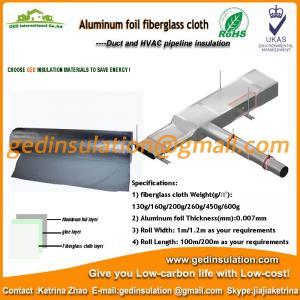 Aluminum foil fiberglass cloth on oil and steam transportation pipeline