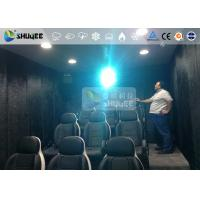China 9 Persons 7D Movie Theater With Special Effect System , Thrilling Drastic Movement Of Chair wholesale