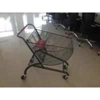 China Fan shape small store shopping cart with color powder coating and amercian handle wholesale