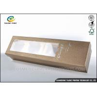 China PVC Window Food Safe Boxes , Cardboard Takeaway Food Boxes Excellent Sealing Strength wholesale