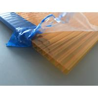 China Orange Double Wall Polycarbonate Panels , Polycarbonate Hollow Sheet UV Resistant wholesale