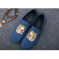 China Men Loafer Slip On Shoes Flat Casual Shoes Tiger Metal At Vamp Velvet EUR 38 - 45 wholesale