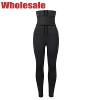 China Single Belt Neoprene High Waisted Workout Leggings With Built In Waist Trainer wholesale
