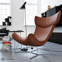 China Replia Henrik Pedersen Boconcept Imola Chair Fiberglass / Leather Comfortable wholesale