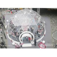 China Lightweight Exhibition Geodesic Dome Tents With Clear PVC Roof Cover wholesale