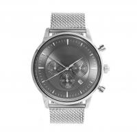 China Light Grey Face Stainless Steel Wrist Watch , Mens Stainless Steel Chronograph Watches wholesale