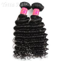China Real Deep Wave Indian 6A Virgin Hair  No Mixed Animal Hair or Synthetic Hair wholesale