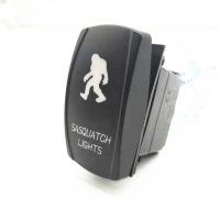China Hot Sale 3-8P Car Marine Car Switch Laser 12-24V DC 20A ON OFF Rock Switch With LED Light wholesale