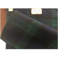 Quality Green Tartan Fabric 60% Wool , Scottish Plaid Fabric With Horizontal And Vertical Line for sale