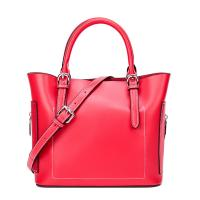 Quality 2019 new products top quality shoulder handbags women bag genuine leather red for sale