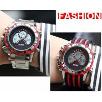 Quality SBAO Men Dual Time Fashion Sport Watches Steel Band Silicone Band Steel Bead Strap Optional  S-9010 for sale