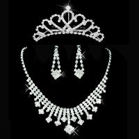 China Bride Jewelry Necklace Earrings Crown wholesale