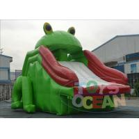 China Green Frog Inflatable Water Slides For Adults / Children Slides Obstacle Outdoor wholesale