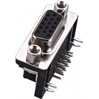 China DB25 Connector Fireproof Antioxidant Dual Row Right Angle Female 500V AC / DC on sale