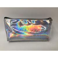 China Laser PU Hologram Travel Cosmetic Bags , Small Makeup Pouch With Zipper on sale