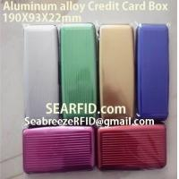 China Aluminum alloy credit card box, Stainless steel card box, European & American styles wholesale