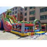 Quality Animal World Theme Inflatable Jungle Bounce Playground Combo For Commercial Rental for sale