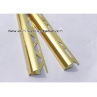 China YC12 Shiny Gold Aluminum Tile Edge Trim / Corner Brace For Decoration Or Construction wholesale