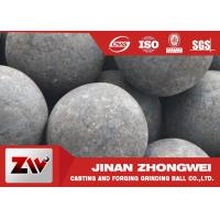 China High hardness forged steel grinding media balls / steel mill media wholesale