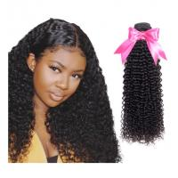 China Healthy Remy Indian Hair Extensions / 22 Inch Hair Bundles With Closure Kinky Curl on sale