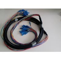 Outdoor Single mode / Multimode optical fiber patch cord with GYTA Fiber Cable