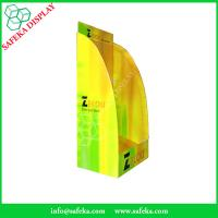 China Funko Free Standing Promotion curve display Rack paper Supermarket advertising stand for floating wholesale