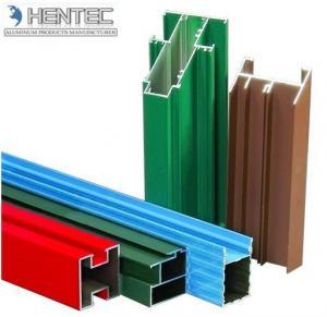 China Customerized Aluminum Window Extrusion Profiles Wooden Finished 6005 / 6061 / 6063 wholesale