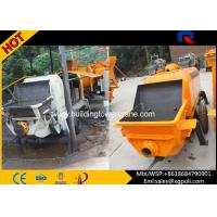 China Diesel Portable Concrete Pump Machine , Stationary Pump Concrete With Three Pump System wholesale