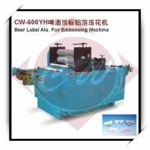 Beer label alu foil embossing machine of item 95030185 for Beer label machine