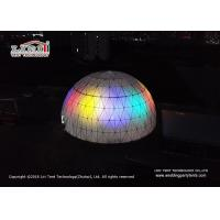 China Steel Frame PVC Lighted Geodesic Dome / Geo Shelter Dome Tent wholesale