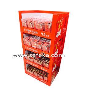 China Socks Store Cardboard POP Floor Display Stand wholesale