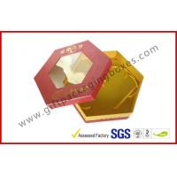 China Octangle Chocolate Packaging Boxes / Window Boxes Hot Stamping Boxes wholesale