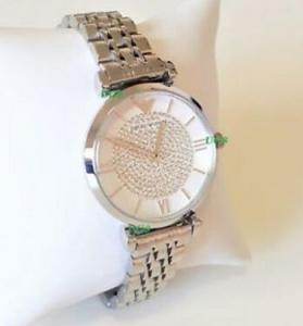 Quality Wholesale Emporio Armani Women New Watch Silver White Dial Genuine Retro Classic for sale