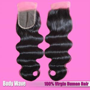 China Factory Wholesaler 100% Human Hair Extension Brazilian Hair Natural Color Lace Closure wholesale