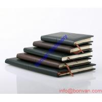 China PU diary notebook with elastic band closure paperback diary notebook from printing wholesale