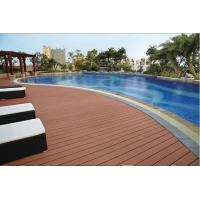 China Weather resistant grooved competitive price wood plastic composite decking, WPC decking, w wholesale