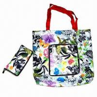 China Wallet shaped polyester shopping bag with zipper, measures 36x58cm or customized wholesale