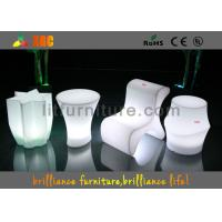 China Polyethylene Bar Furniture LED lighting bar stools With Wireless Remote Control on sale