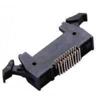 China 20P 1.27 * 2.54mm Latch Header Right Angle Male  Connector PA9T plastic ROHS wholesale