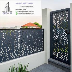 China SUDALU Laser Cut Powder Coated Aluminum Exterior Villa Fence and Gate Panel wholesale