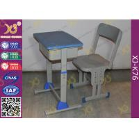 China Adjustable School Desk And Chair With Colorful Plastic Seat 5 Years Warranty wholesale
