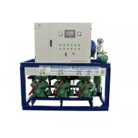 China Bitzer two stage piston type refrigeration compressor unit for R404a blast freezers wholesale