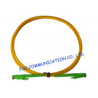 China E2000 Fiber Optic Patch Cord SM G.652D Fiber Simplex 3.0mm For Telecom Networks on sale
